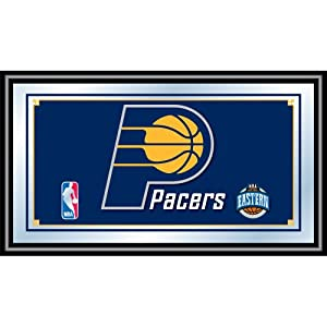 NBA Indiana Pacers Logo Framed Mirror by Trademark Global