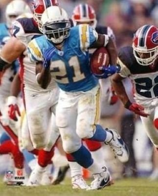 Ladainian Tomlinson San Diego Chargers Nfl 8X10 Photograph Baby Blue Rushing front-186929