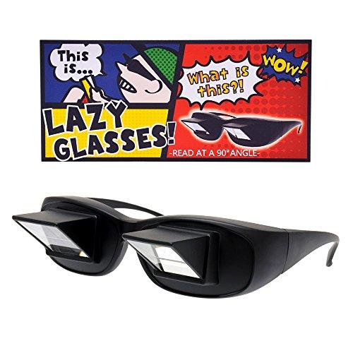 [リベルタ]LIBERTA 怠け者メガネ プリズム 反射 寝ながら 読書 スマホ タブレット TV めがね 3サイズ Mサイズ ブラック