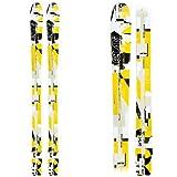 New Wildcat 95cm Jr Waxless Cross Country Backyard Ski Set w Poles Ages 4-8