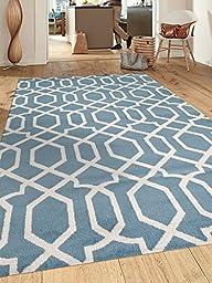 Contemporary Trellis Design Blue Soft 5\'3\