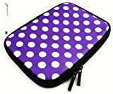 Flash Superstore Bundle Pack of White Capacitive/Resistive Touchscreen Stylus Pen & Polka Dots Purple / White ( 7 Inch Tablet / eReader ) Water Resistant Neoprene Soft Zip Case/Cover suitable for Blackberry Playbook ( 7 Inch Tablet )