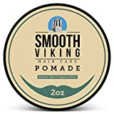 Pomade for Men - Best Hair Styling Formula for Medium Hold and High Shine - Perfect for Straight, Thick and Curly Hair - 2 OZ - Smooth Viking