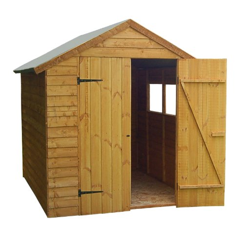 8 x 6 Overlap Premium Double Door Apex Shed