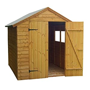 8 x 6 Shed Republic Value Overlap Premium Double Door Apex Shed