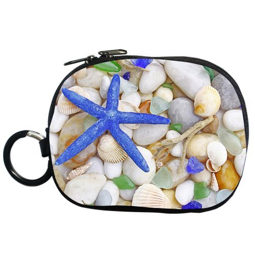 Generic Personalized Fantastic Blue Starfish And Sea Shell For Coin Purse (Two Side) front-736159
