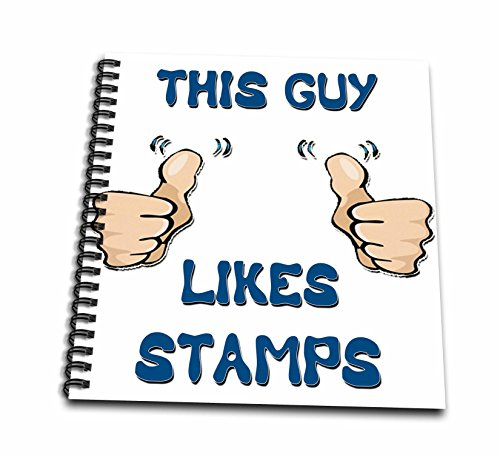 Blonde Designs This Guy Likes With Thumbs - This Guy Likes Stamps - Memory Book 12 x 12 inch (db_150476_2)