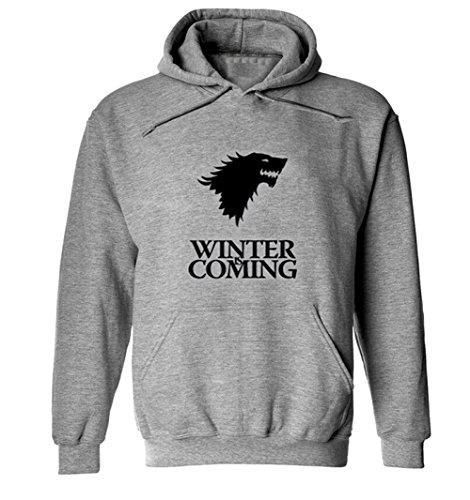 Buy&go Game of Thrones Winter Is Coming Unisex Fashion Hoodie Sweatshirt, Grey L