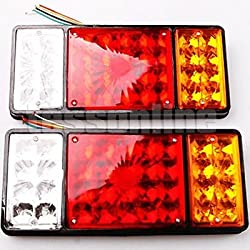 See Tasso LED Tail Lights Car Boat Vehicle Taillight Rear Light Lamp 24v Waterproof (Pack of 2) Details