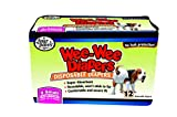Four Paws Wee-Wee Disposable Doggie Diapers, X-Small,12-Pack