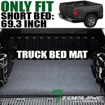 Topline Autopart Black Truck Bed Cargo Box Trunk Floor Rug Mat Carpet 07-16 Silverado/Sierra 5.8 Ft (2014 Silverado Cargo Hooks compare prices)