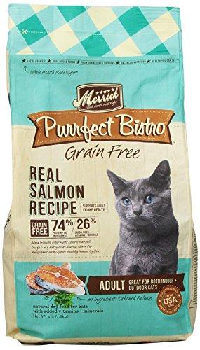 Merrick Purrfect Bistro Grain Free Healthy Adult Salmon Recipe Cat Food, 4-Pound