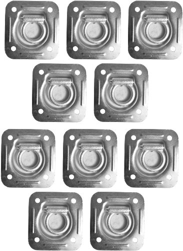 10 Recessed Trailer D-Rings for Enclosed Cargo Control Trailers Flatbed Trailers (Trailer Ring compare prices)