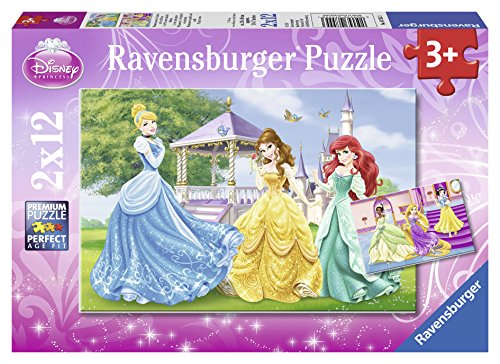 Ravensburger Disney Princess: Princesses in Garden and Castle - 2 x 12 Piece Puzzles in a Box - 1
