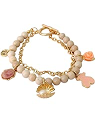 Super Drool Sea Shell Alloy Charm Bracelet