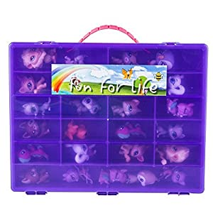 Littlest Pet Shop Compatible Organizer Grape/Purple - Fun for Life is Pefect Compatible Storage Case for LPS- Fits up to 60 Characters