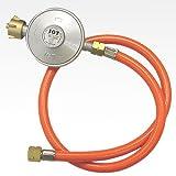 Lawn & Patio - Gas Niederdruckregler 50mbar + Gasschlauch Neu
