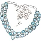 Ana Silver Co Aquamarine 925 Sterling Silver Signature Necklace 21