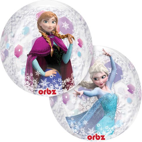 "15"" Disney Frozen Clear Orbz Balloon"