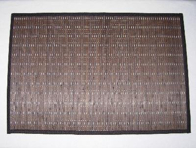 BAMBOO Area FLOOR MAT rug DARK BROWN non-skid decor NU