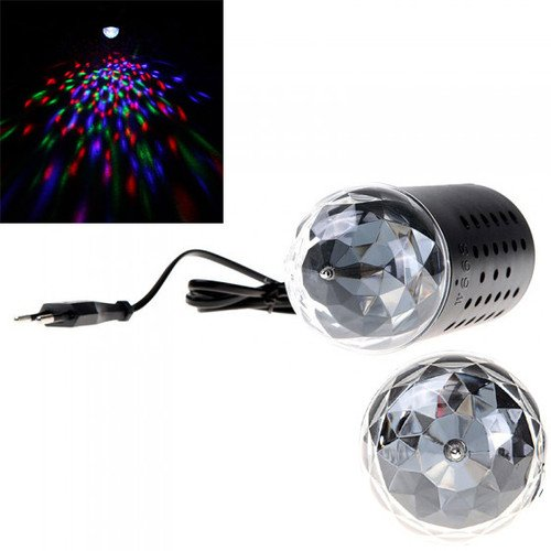 Hooshion® RGB Stage Light 3W Automatically Rotating DJ Disco Ceiling LED Lamp Lighting