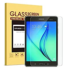 Samsung Galaxy Tab A 9.7 Screen Protector [.3mm / 2.5D] [Tempered Glass], SPARIN [Bubble-Free] [Repeatable Installation] Glass Screen Protector for Samsung Galaxy Tab A 9.7, [Lifetime Warranty]