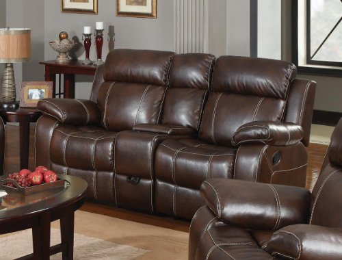 Double Gliding Loveseat W/ Cup Holders By Coaster front-985613