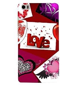 PrintVisa Romantic Love 3D Hard Polycarbonate Designer Back Case Cover for Xiaomi Redmi Mi5