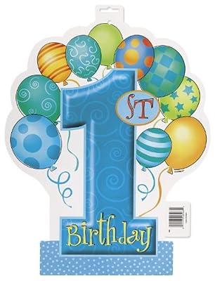 Blue 1st Birthday Plastic Tablecloth