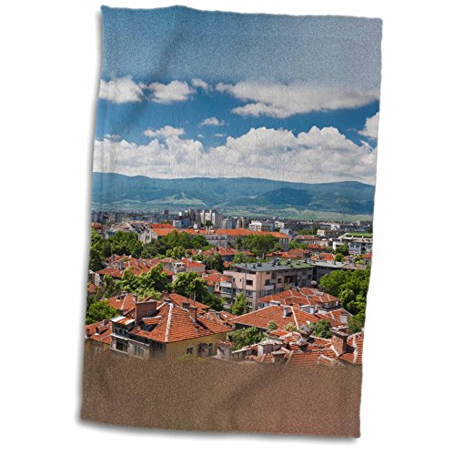 3dRose Danita Delimont - Architecture - Bulgaria, Plovdiv, elevated central city view - 12x18 Towel (twl_227059_1) (Spin Central City compare prices)