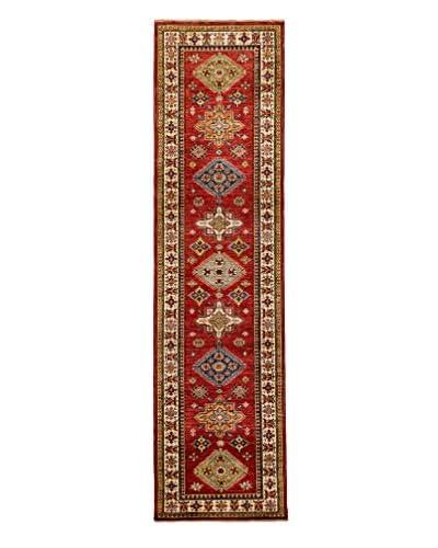 Darya Rugs Fine Kazak Oriental Rug, Red, 2' 7 x 9' 10 Runner