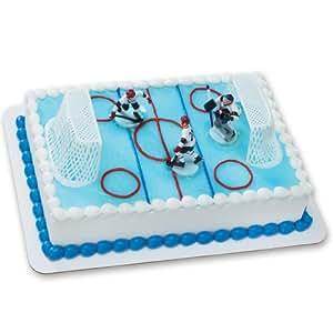 Ice Hockey Cake Decorations
