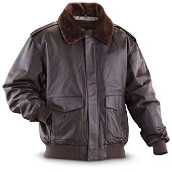 Guide Gear Nappa Bomber Jacket Brown by Guide Gear