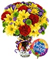 Best Wishes Bouquet with Birthday Balloon  Flowers