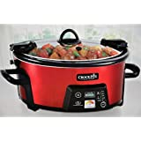 Crock-Pot SCCPCTS605-R Cook Travel Serve 6-Quart Programmable Slow Cooker, Red