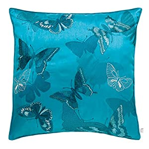 Catherine Lansfield Butterfly Cushion Cover, Teal