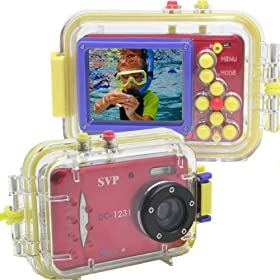 SVP Acqua DC-1231R Digital Still Camera with waterproof case