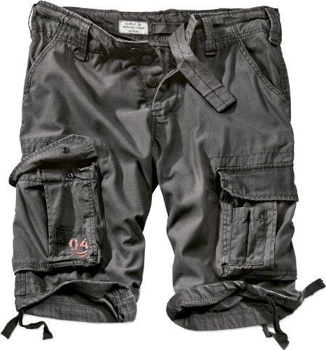 Surplus Uomo Airborne Vintage Pantaloncini Lavati Nero taglia L