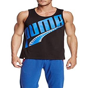 Puma Mens Gym Chemical Comic Tank Top Sleeveles Black/blue Large