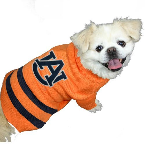 Pets First Collegiate Auburn Tigers Pet Sweater, Small