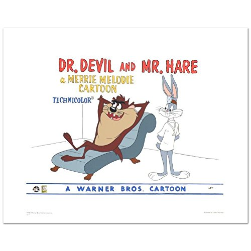 looney-tunes-dr-devil-mr-hare-limited-edition-giclee-from-warner-bros-numbered-with-hologram-seal-an