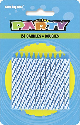 Unique Industries 24 Count Spiral Candle, Blue - 1