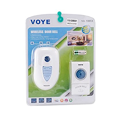 iMeshbean® New 38 Songs Wireless Doorbell with Remote Control USA Seller