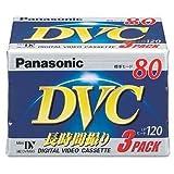 パナソニック ミニDVカセット80分3巻パック AY-DVM80V3