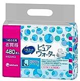 シルコット ウェットティッシュ ノンアルコール ピュアウォーター 純水99% 詰替60枚×8パック(480枚)