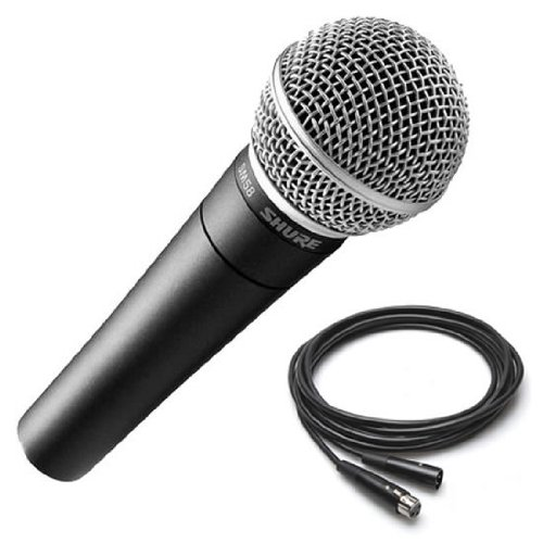 Shure Sm58-Lc Dynamic Vocal Microphone 25' Xlr Mic Cable Sm 58
