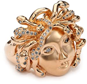 Borgioni Medusa Cocktail Ring, Size 7