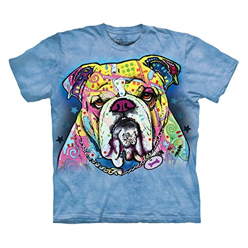 The Mountain Colorful Bulldog Adult LIght Blue T-shirt M (Bulldog Blues compare prices)