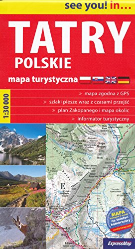 Tatra Mountains (Poland) 1:30,000 Hiking Map, GPS-precise