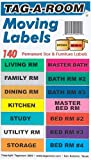 """Moving Labels Identify Moving box contents with 140 labels, 14 different colors, 4.5"""" x 1"""" Each."""